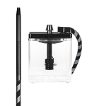 MS MICRO HOOKAH BLACK - CLEAR